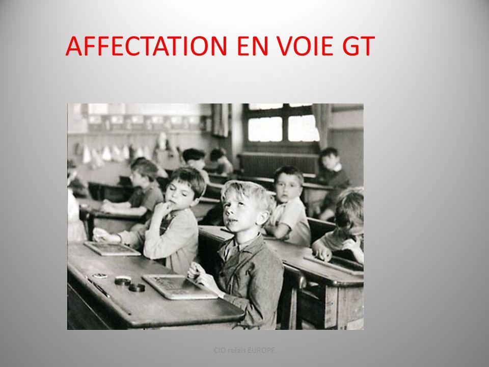 AFFECTATION EN VOIE GT CIO relais EUROPE