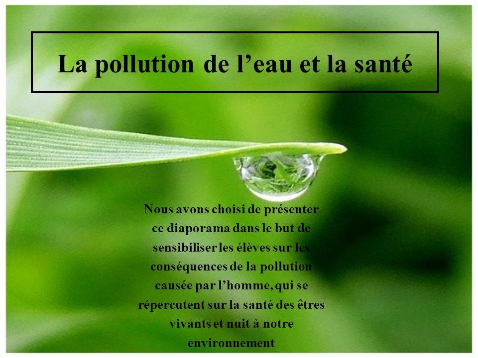 La pollution de l'eau et la santé