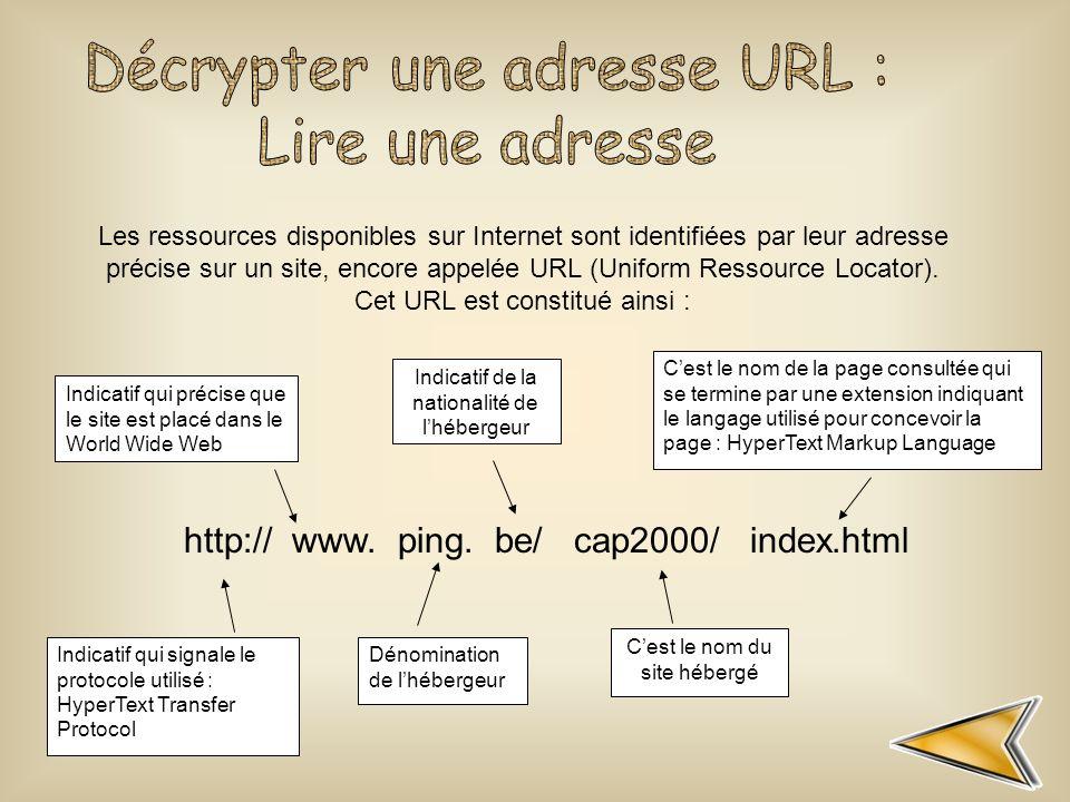 Décrypter une adresse URL : Lire une adresse