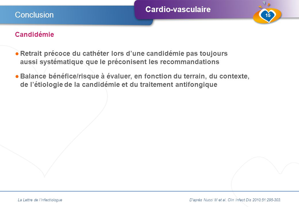 Conclusion Candidémie