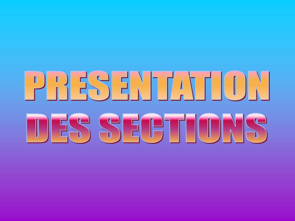 PRESENTATION DES SECTIONS