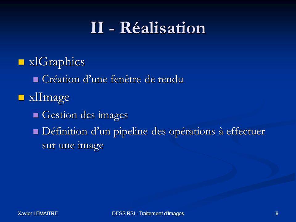 DESS RSI - Traitement d Images