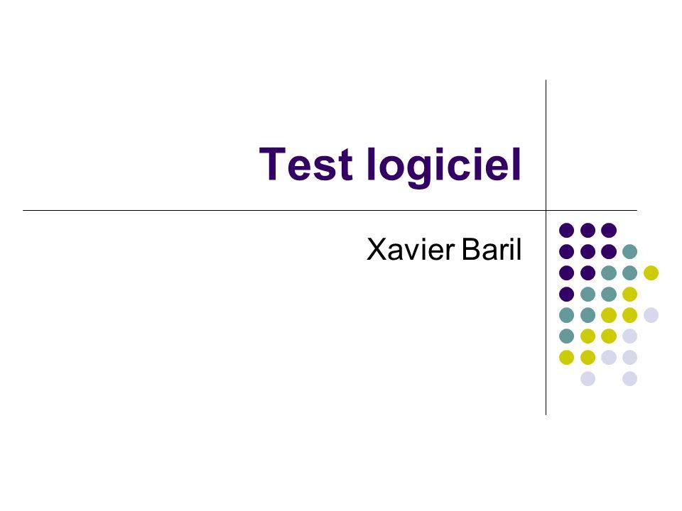 Test logiciel Xavier Baril