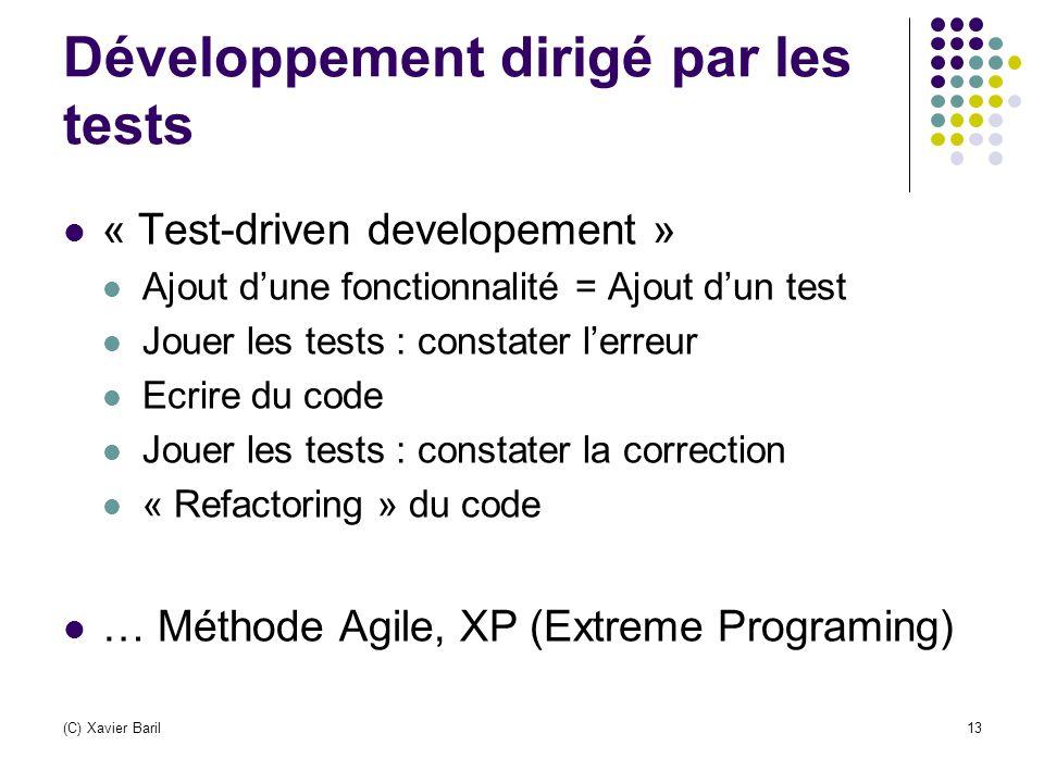 Développement dirigé par les tests
