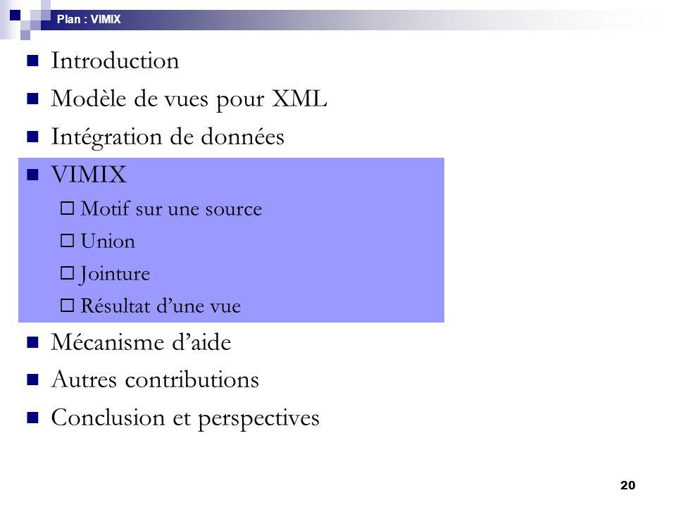Intégration de données VIMIX