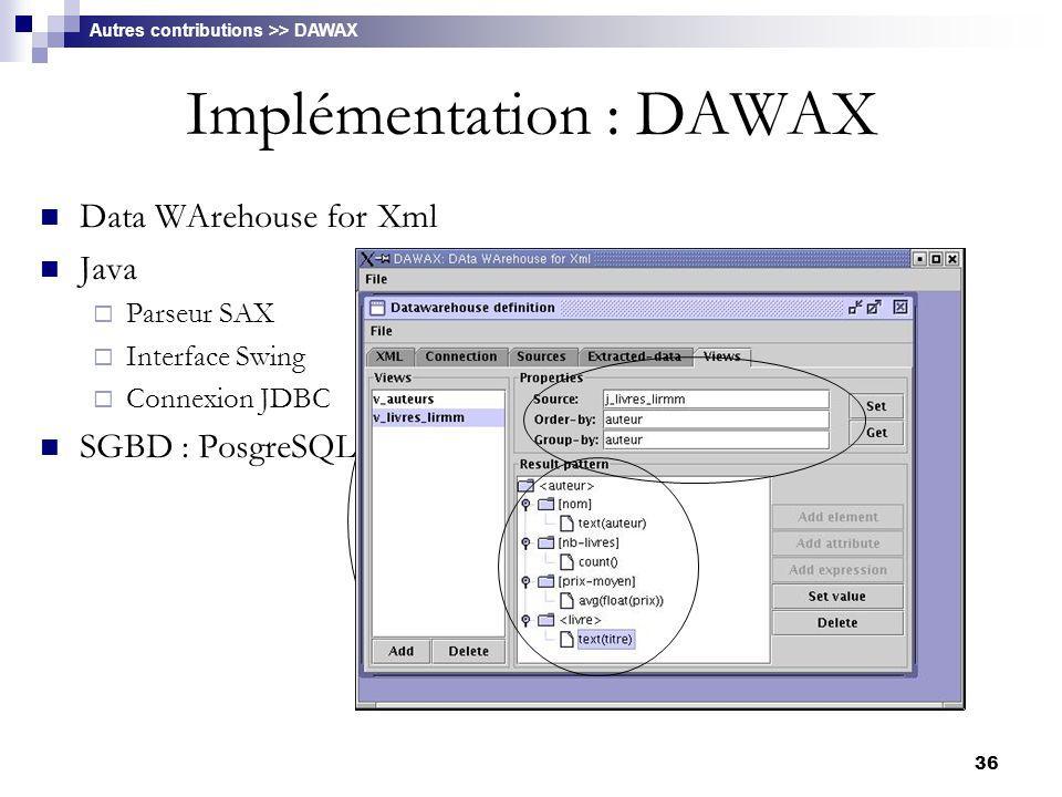 Implémentation : DAWAX