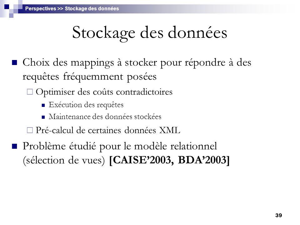 Perspectives >> Stockage des données