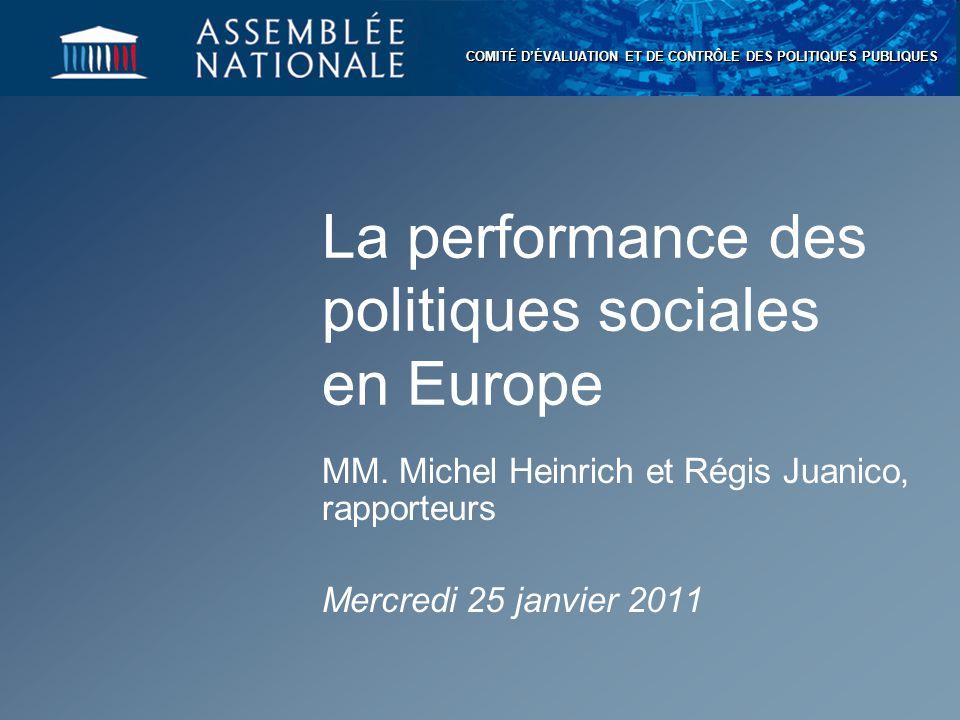 La performance des politiques sociales en Europe