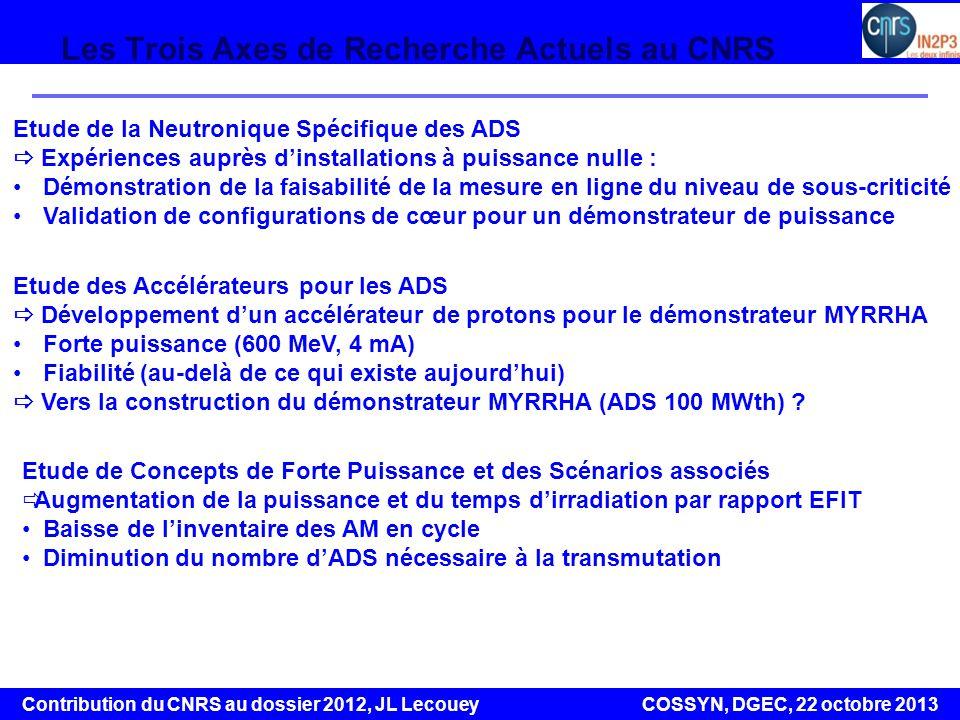 Les Trois Axes de Recherche Actuels au CNRS