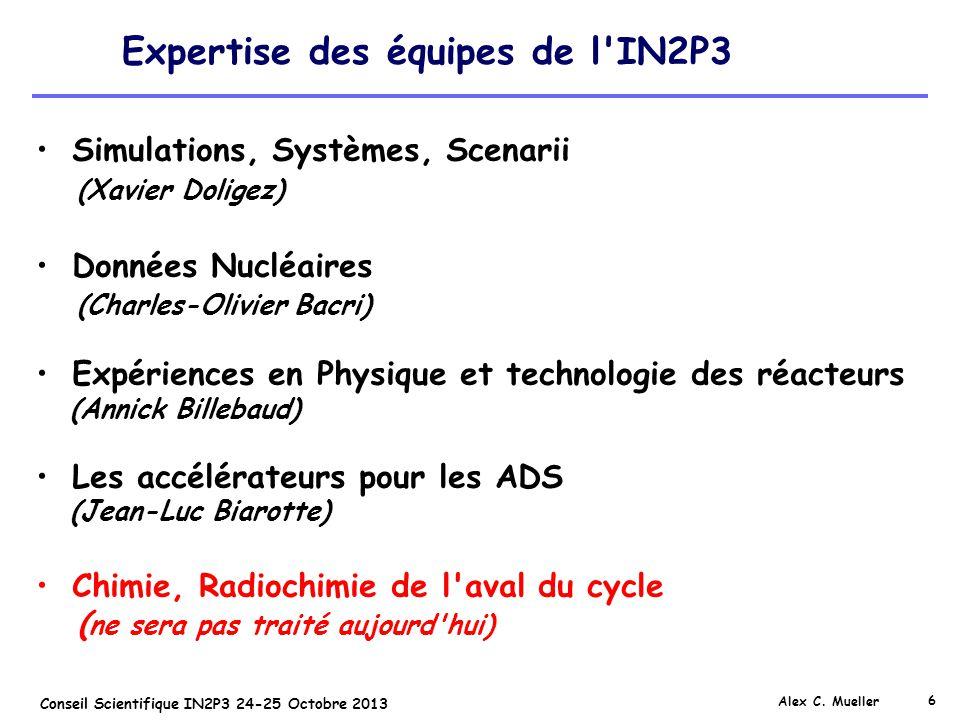 Expertise des équipes de l IN2P3
