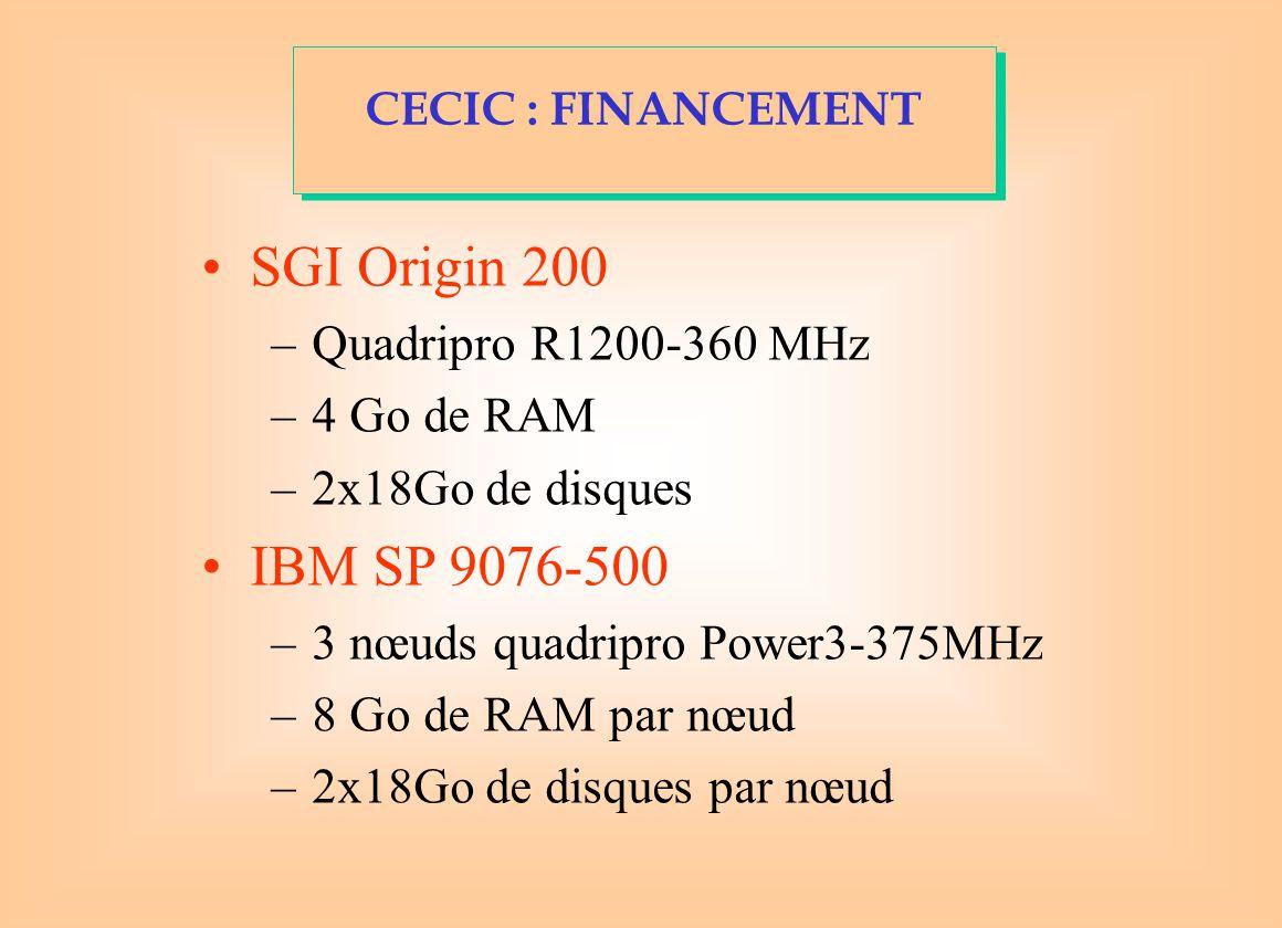 SGI Origin 200 IBM SP 9076-500 Quadripro R1200-360 MHz 4 Go de RAM