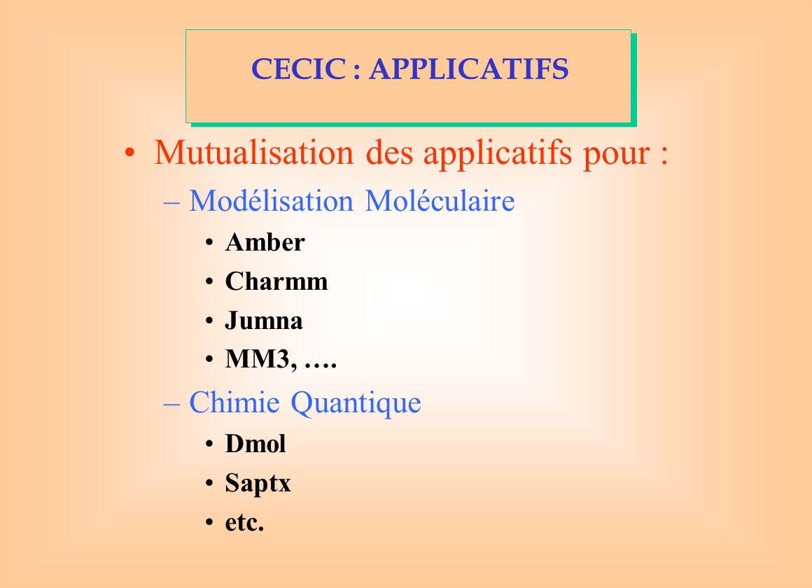 Mutualisation des applicatifs pour :