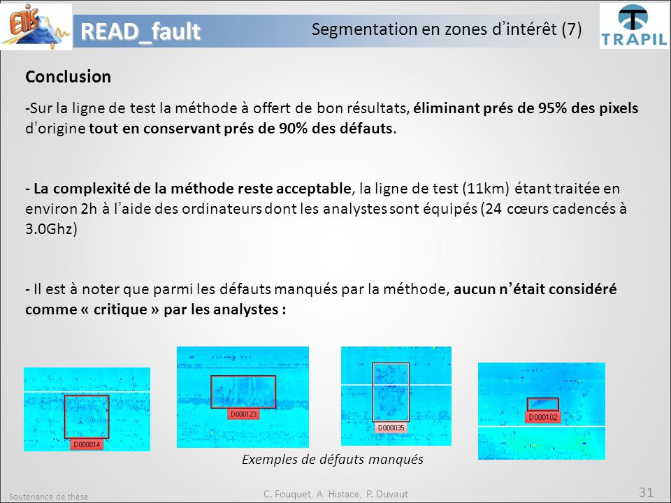 READ_fault Segmentation en zones d'intérêt (7) Conclusion