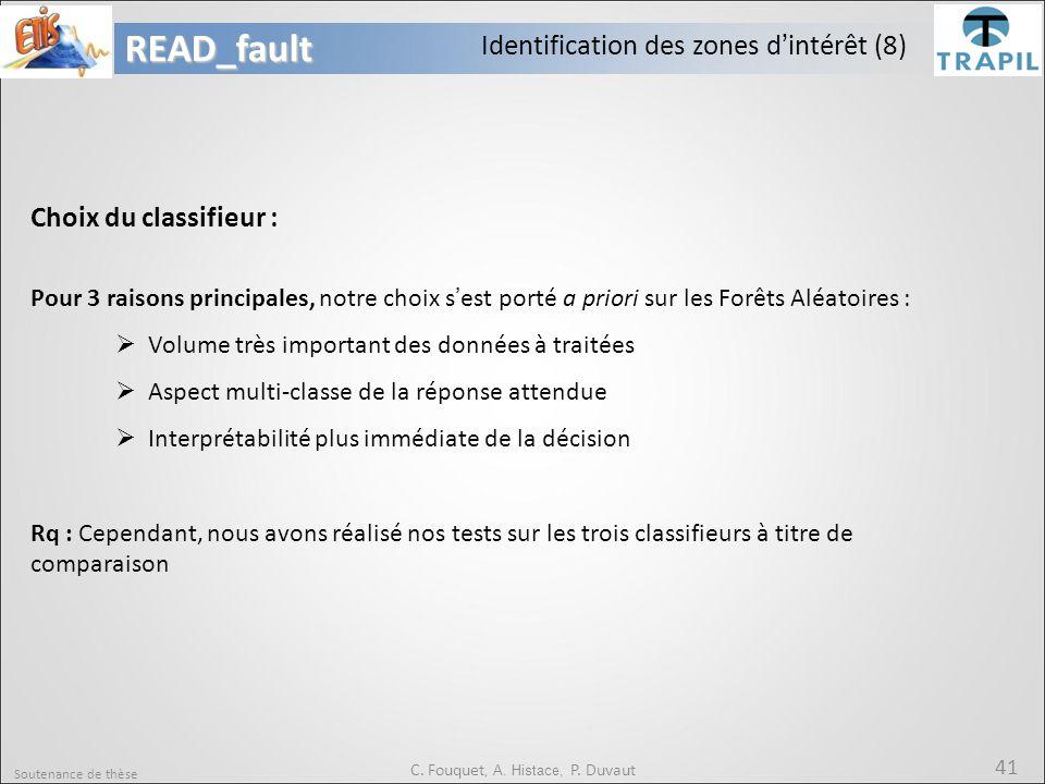 C. Fouquet, A. Histace, P. Duvaut