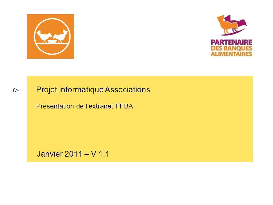 Projet informatique Associations Présentation de l'extranet FFBA