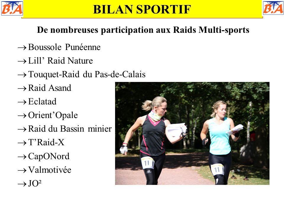 De nombreuses participation aux Raids Multi-sports
