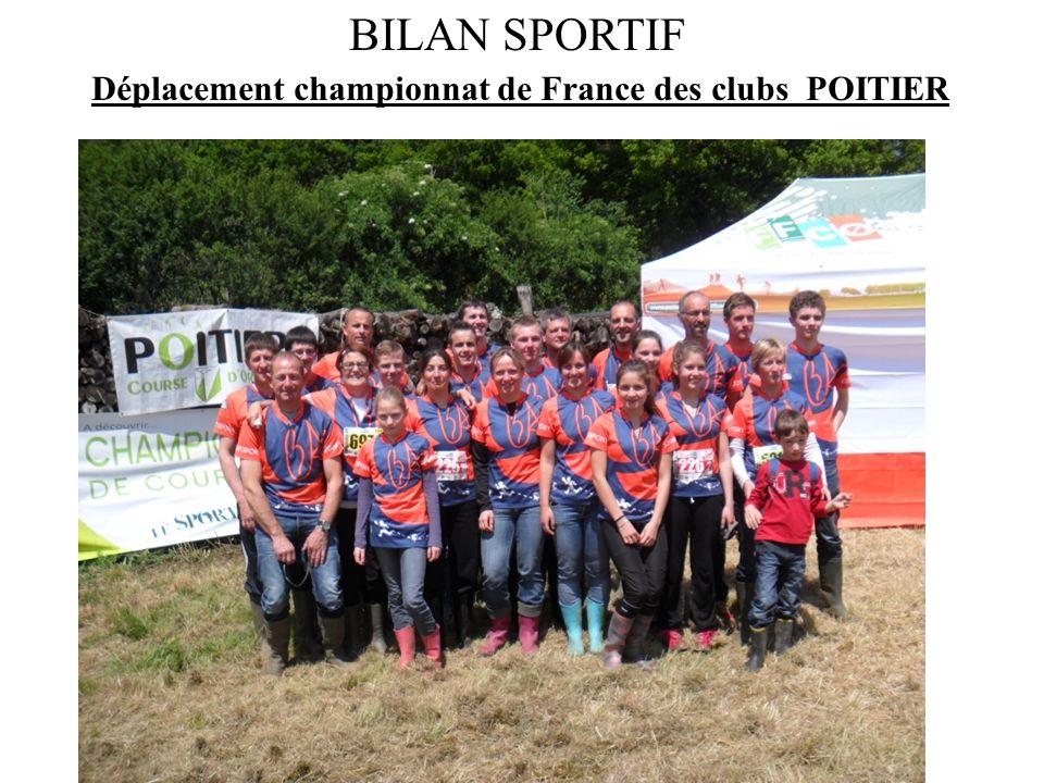 BILAN SPORTIF Déplacement championnat de France des clubs POITIER