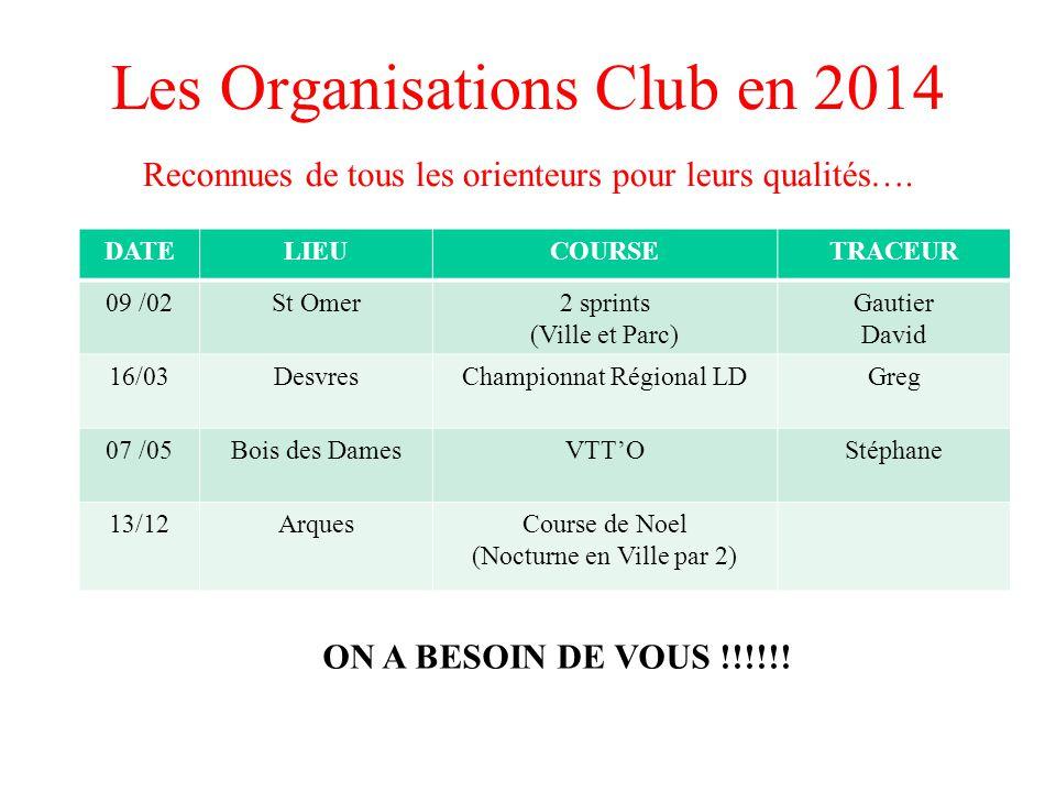 Les Organisations Club en 2014