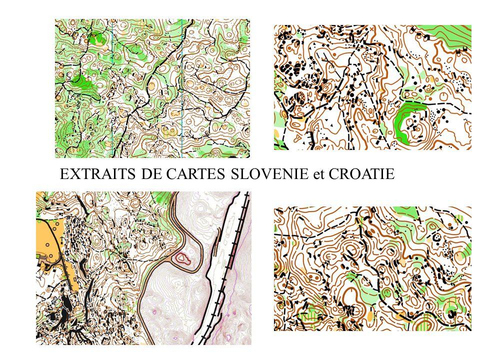 EXTRAITS DE CARTES SLOVENIE et CROATIE