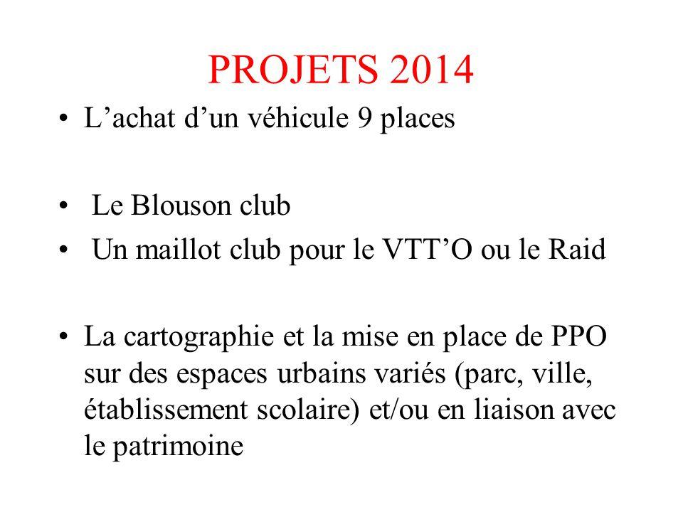 PROJETS 2014 L'achat d'un véhicule 9 places Le Blouson club