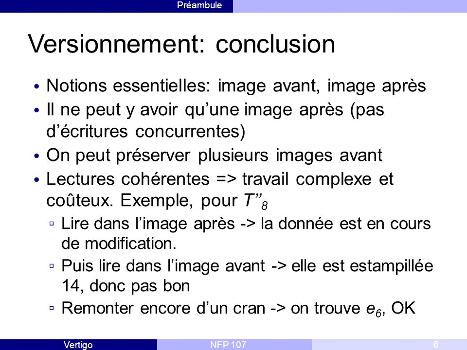 Versionnement: conclusion
