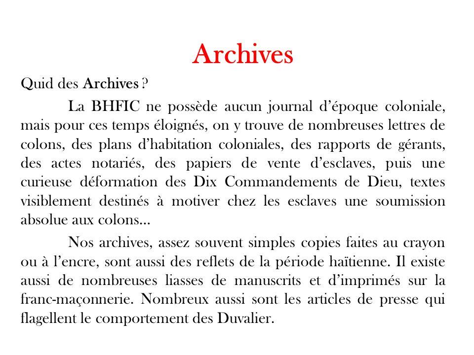 Archives Quid des Archives