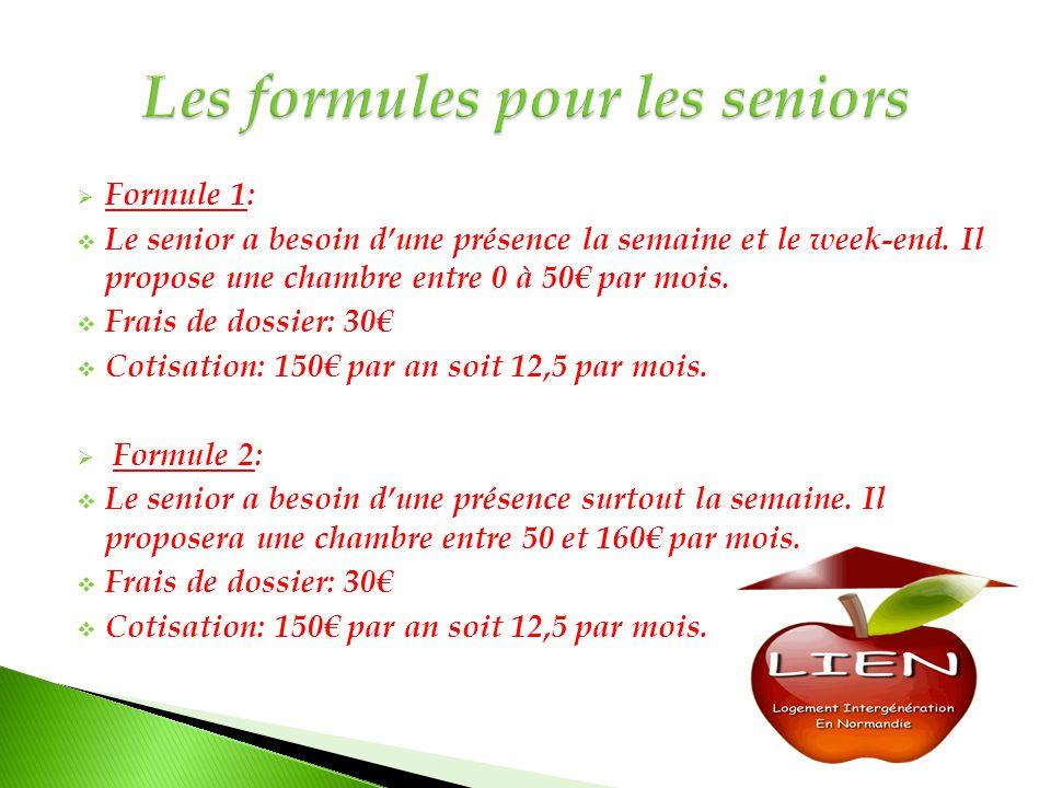 Les formules pour les seniors