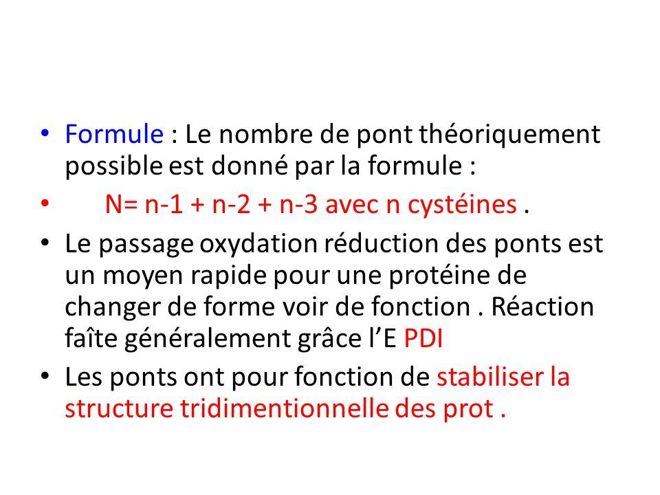 Formule : Le nombre de pont théoriquement possible est donné par la formule :