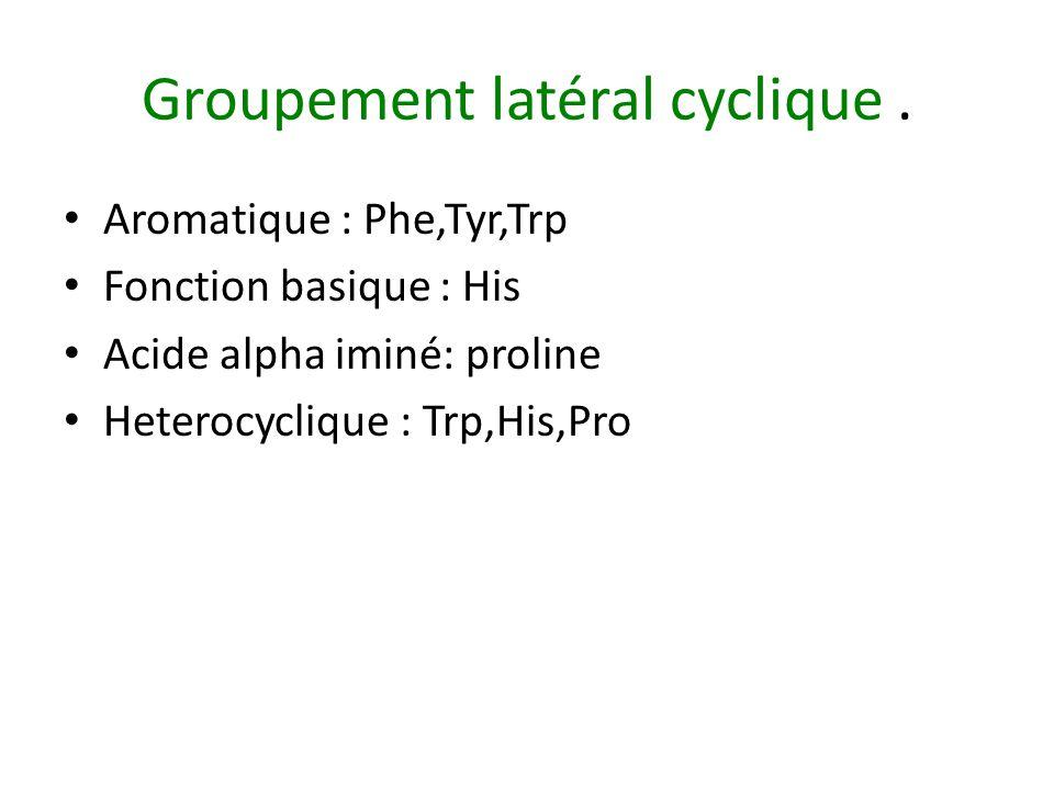 Groupement latéral cyclique .