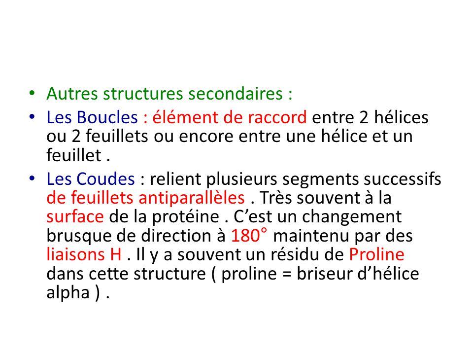 Autres structures secondaires :