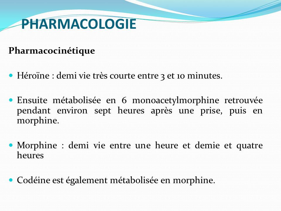 PHARMACOLOGIE Pharmacocinétique