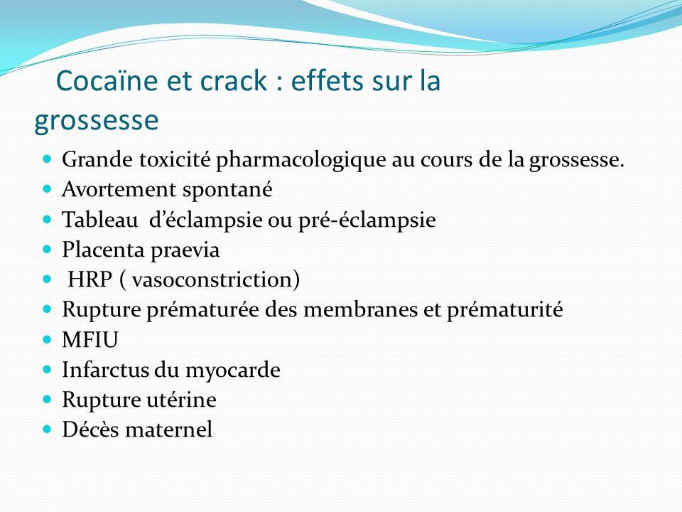 Cocaïne et crack : effets sur la grossesse