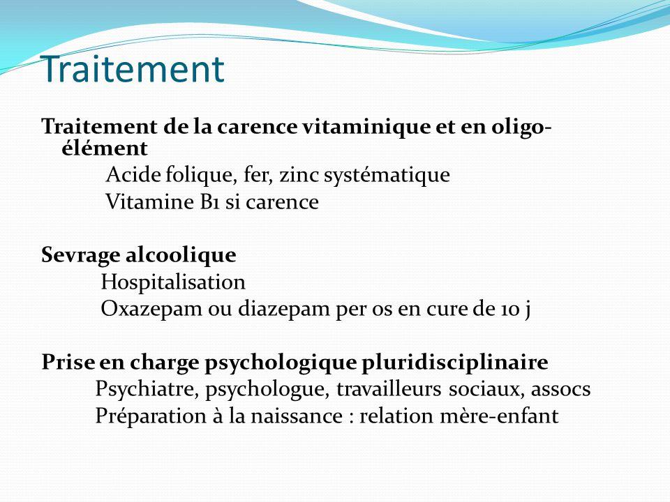 Traitement Traitement de la carence vitaminique et en oligo-élément