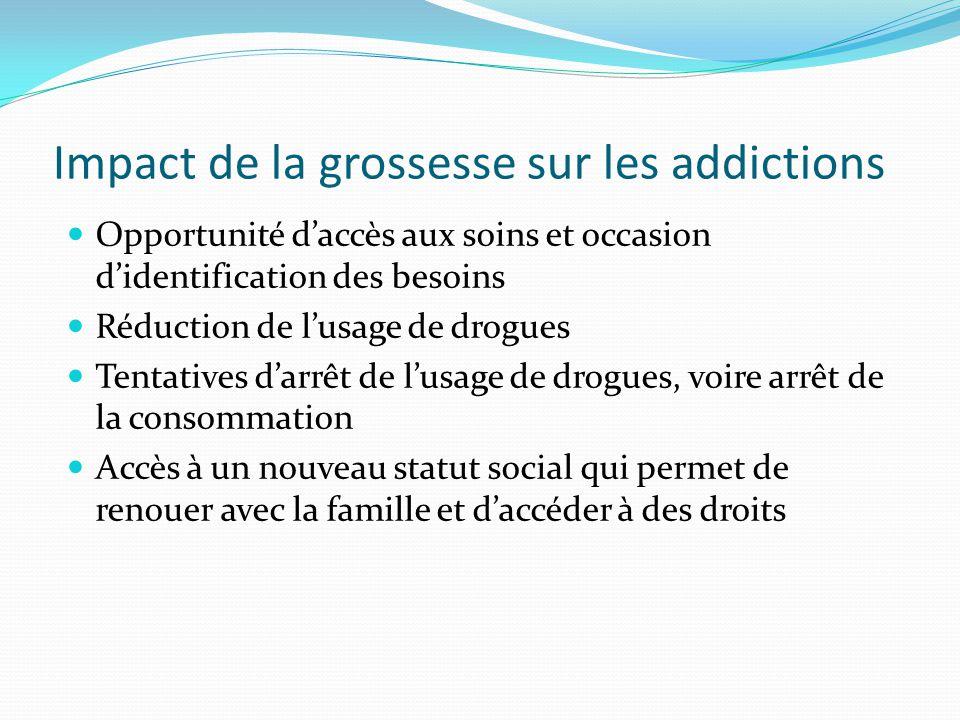 Impact de la grossesse sur les addictions