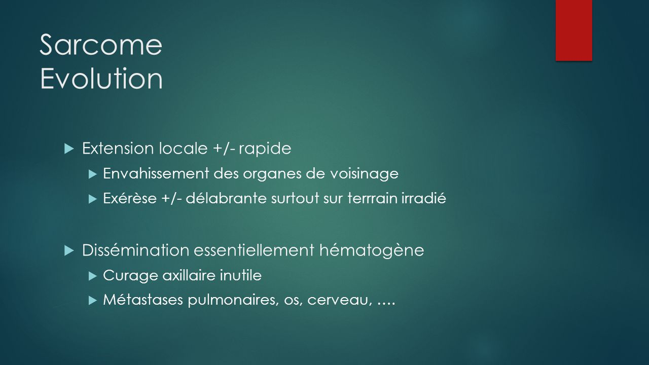 Sarcome Evolution Extension locale +/- rapide