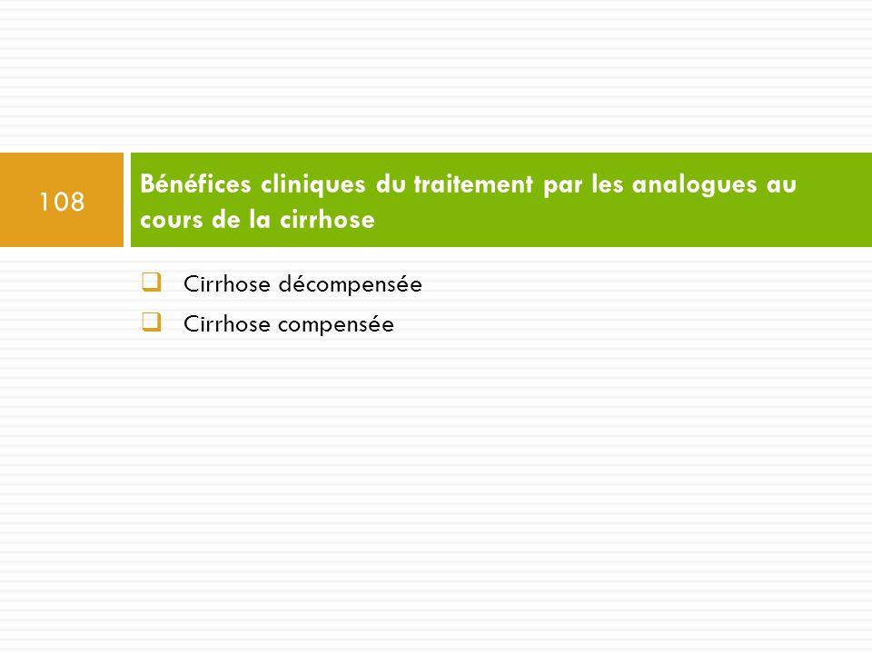 Bénéfices cliniques du traitement par les analogues au cours de la cirrhose