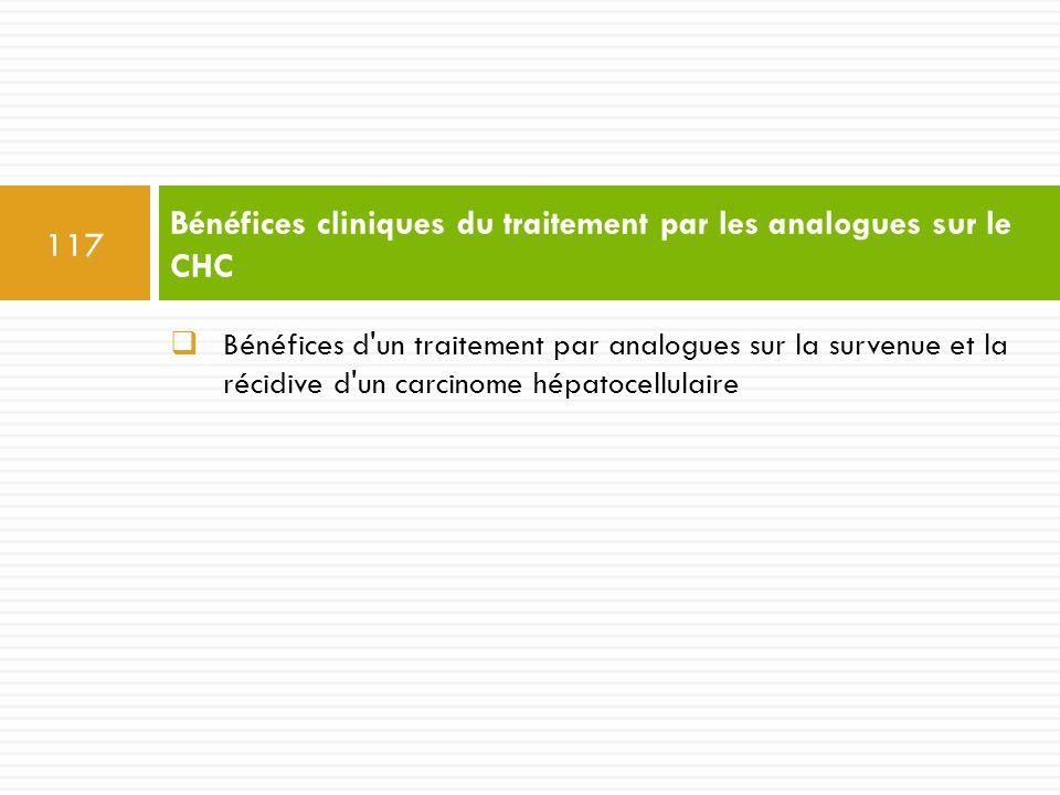 Bénéfices cliniques du traitement par les analogues sur le CHC