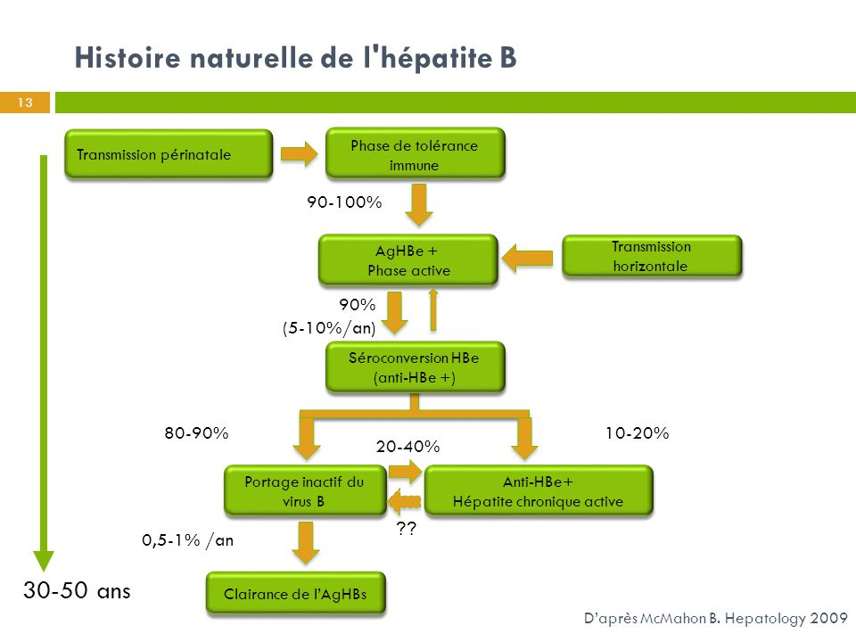 Histoire naturelle de l hépatite B