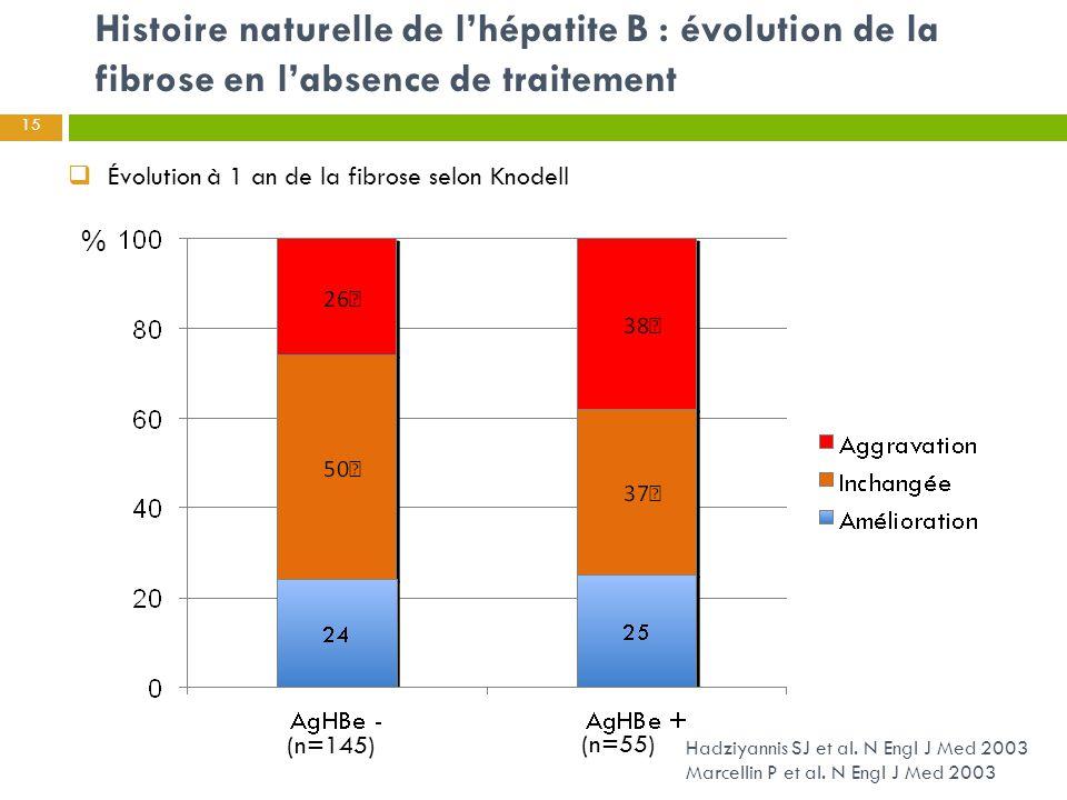 Histoire naturelle de l'hépatite B : évolution de la fibrose en l'absence de traitement