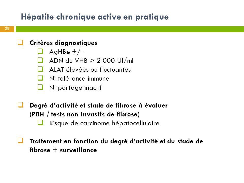 Hépatite chronique active en pratique