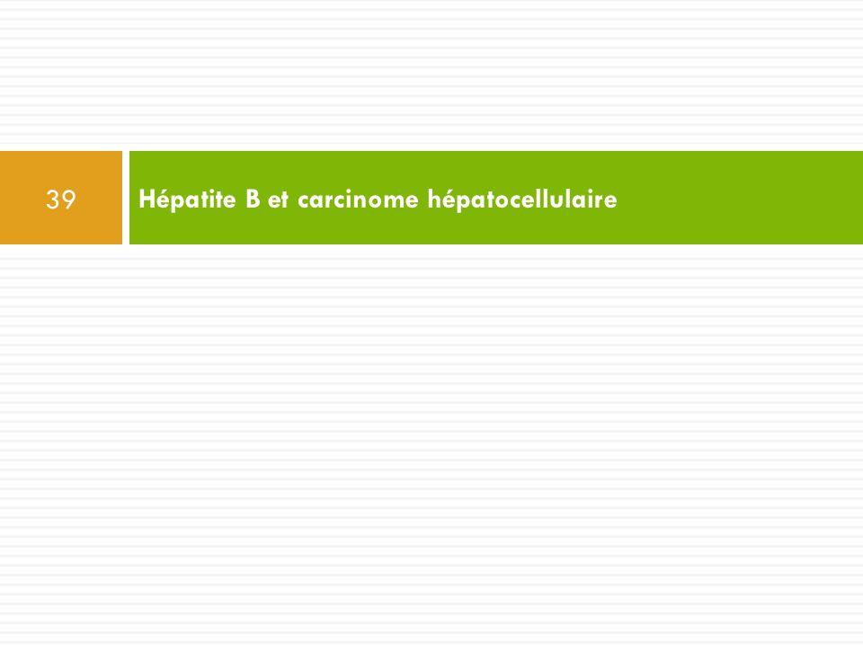 Hépatite B et carcinome hépatocellulaire