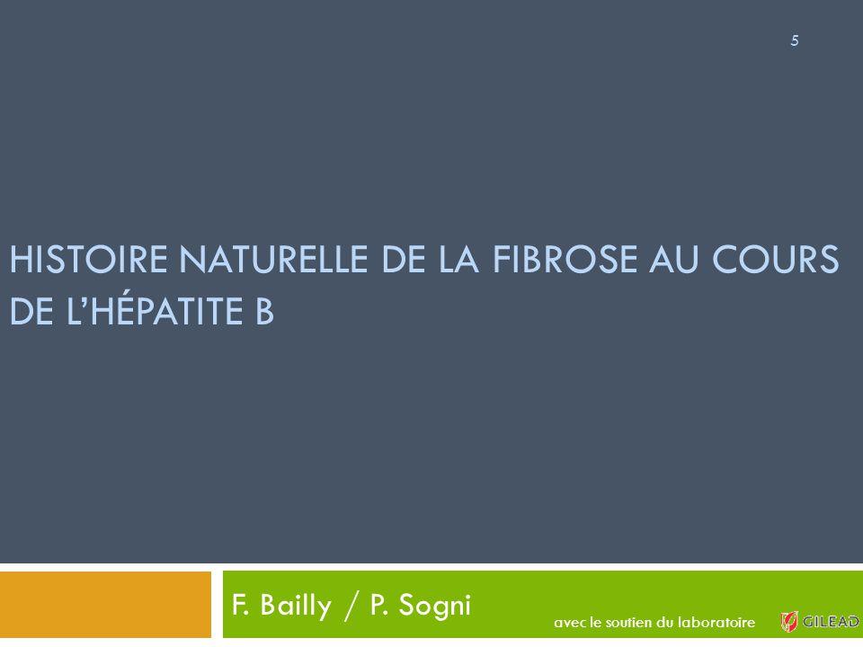 HISTOIRE NATURELLE DE LA FIBROSE AU COURS DE L'HÉPATITE B