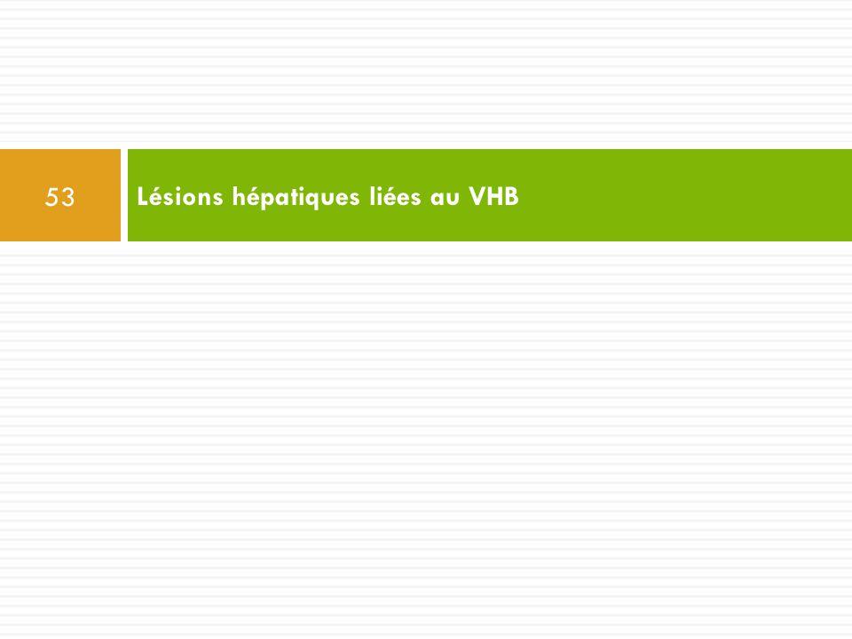 Lésions hépatiques liées au VHB