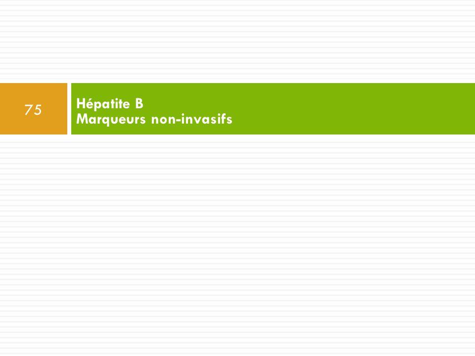 Hépatite B Marqueurs non-invasifs
