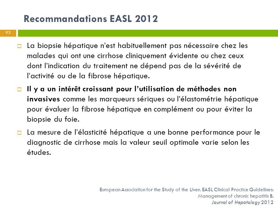 Recommandations EASL 2012