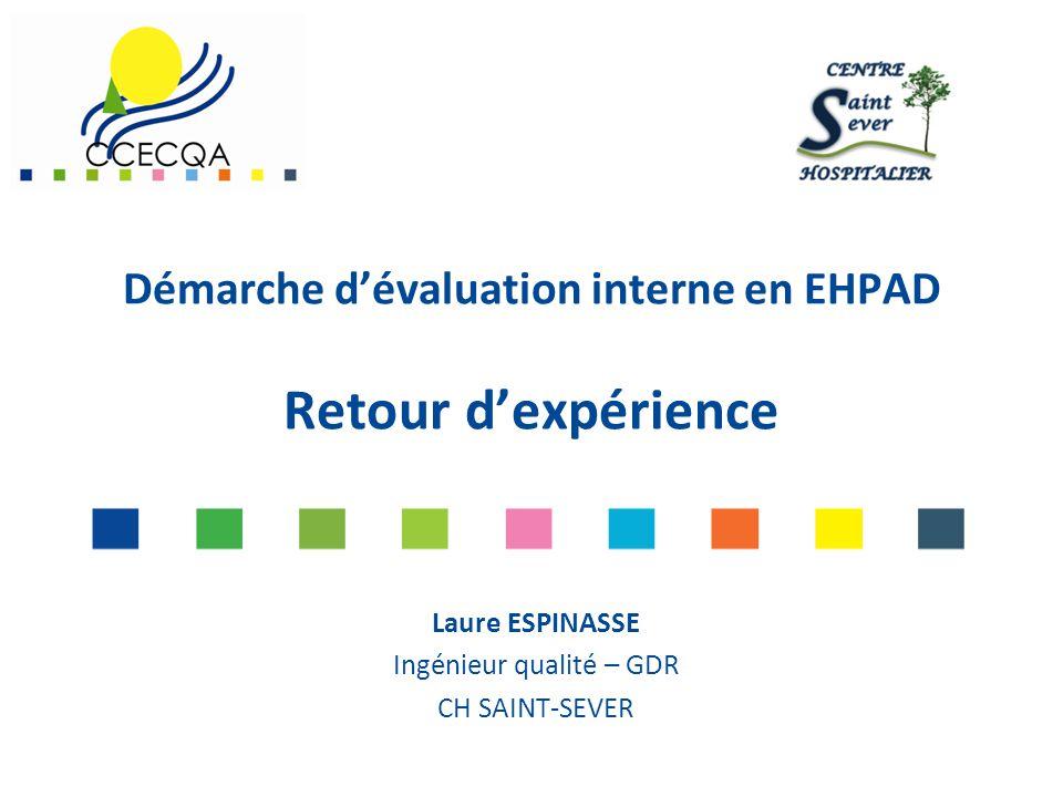 Démarche d'évaluation interne en EHPAD Retour d'expérience