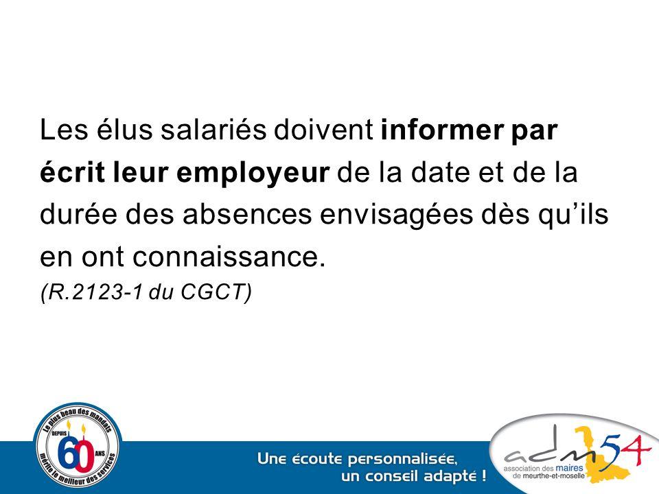 Les élus salariés doivent informer par