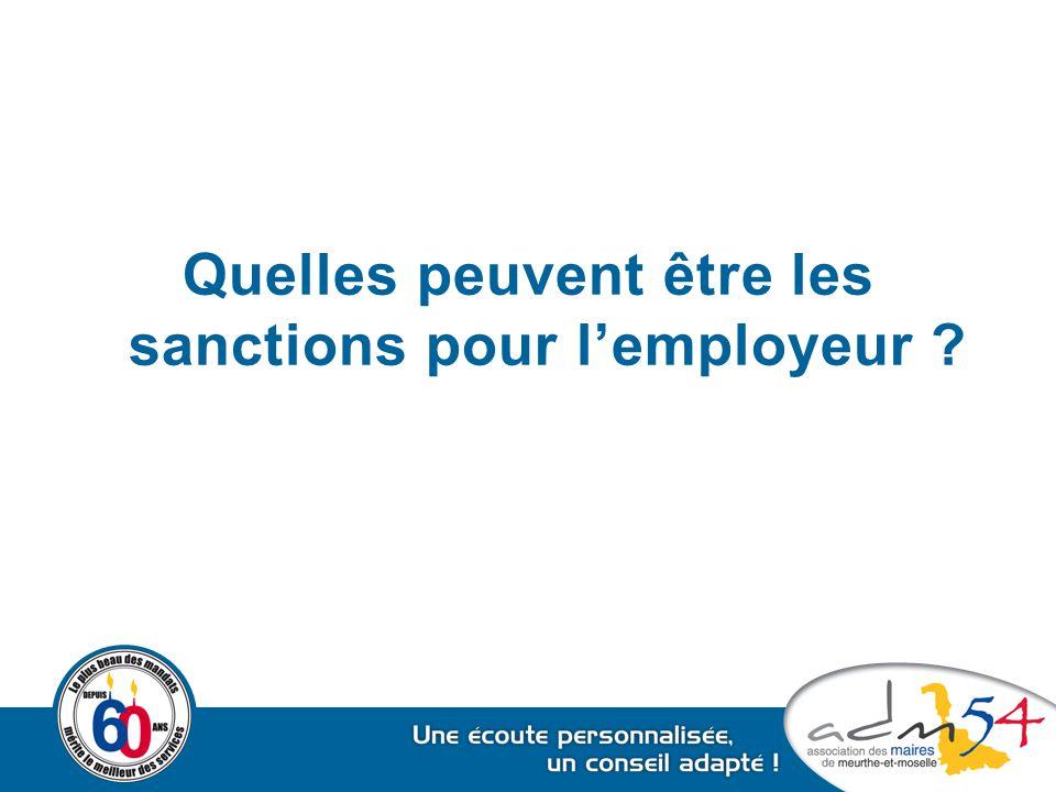 Quelles peuvent être les sanctions pour l'employeur