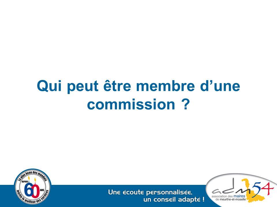 Qui peut être membre d'une commission