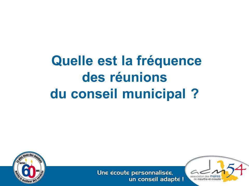 Quelle est la fréquence des réunions du conseil municipal